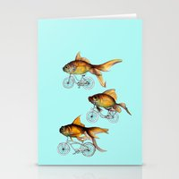 fish Stationery Cards featuring fish by Кaterina Кalinich