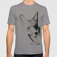 The Fox Mens Fitted Tee Athletic Grey SMALL