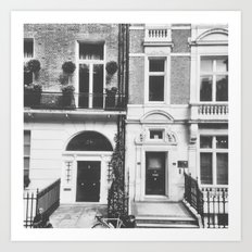 London Facade: B&W Art Print