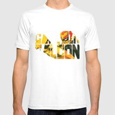 Captain Falcon Mens Fitted Tee White SMALL