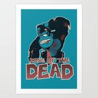 Kong Of The Dead Art Print