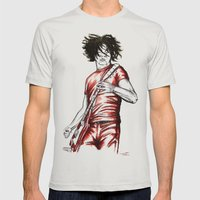 Jack White Red Watercolor Mens Fitted Tee Silver SMALL