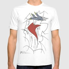 Heart & Hand White Mens Fitted Tee SMALL