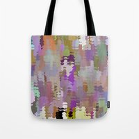 Crowd on the beach, Pattern Tote Bag