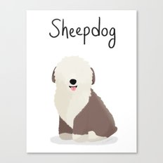 Sheepdog - Cute Dog Series Canvas Print