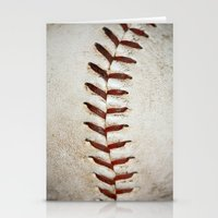 Vintage Baseball Stitchi… Stationery Cards