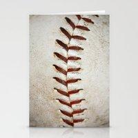Vintage Baseball Stitching Stationery Cards