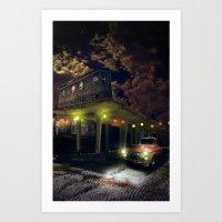 Night fill Art Print