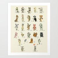 ABC, With Tasmanian Frie… Art Print