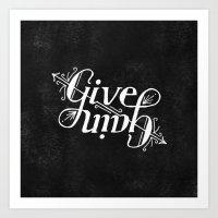 Give-Gain Chalk Art Print