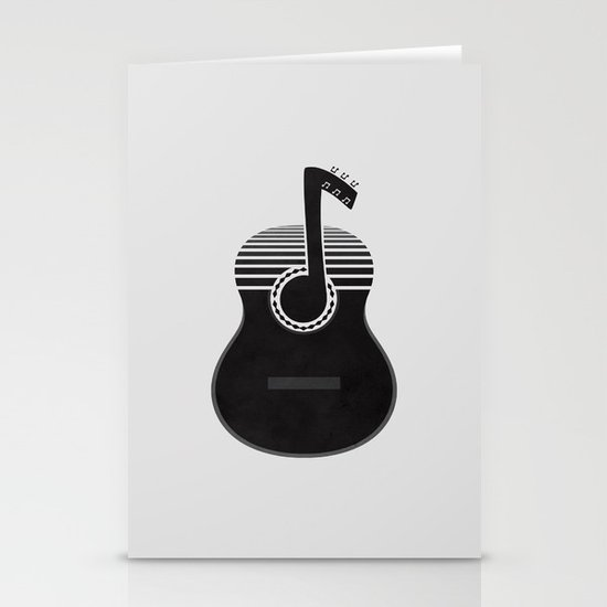 Classical Notes Stationery Card