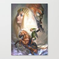 Canvas Print featuring Legend Of Zelda by Hart-coco