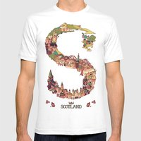 S is for Scotland Mens Fitted Tee White SMALL