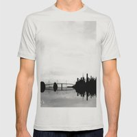 San Francisco Bay Bridge Mens Fitted Tee Silver SMALL