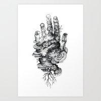 Dead Hand Art Print