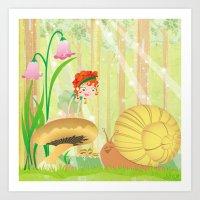 Forest Fairy Art Print