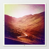 Canvas Print featuring Mountains by SABOTAGE