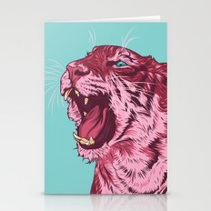Magenta Tiger Stationery Cards