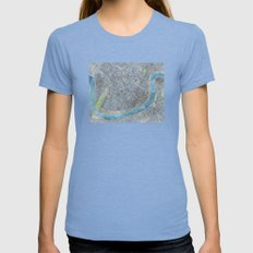 New Orleans City Map Womens Fitted Tee Tri-Blue SMALL
