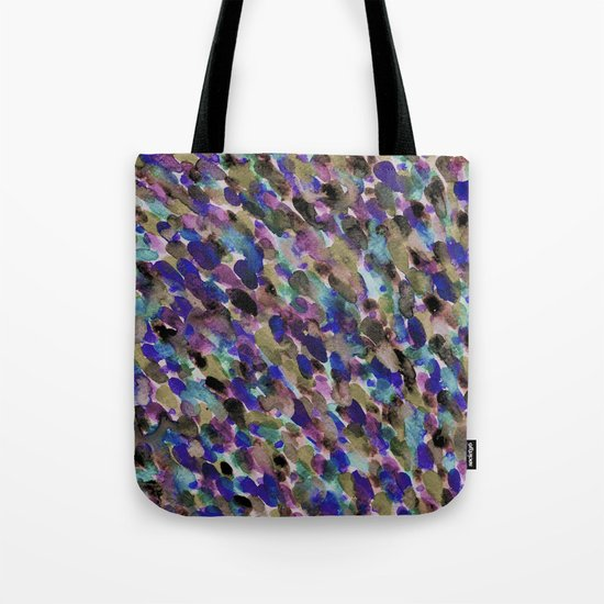 Purple and Olive Tote Bag
