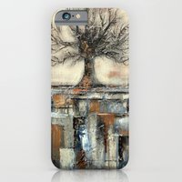 Tree In Brown And Gold T… iPhone 6 Slim Case