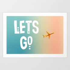 Let's Go (Airplane) Art Print