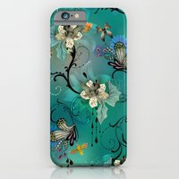 iPhone & iPod Case featuring The Butterflies & The Bees  by Million Dollar Design