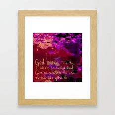 God I Look To You Framed Art Print