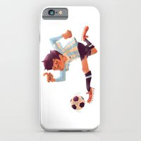 iPhone & iPod Case featuring Lionel Messi, Argentina Jersey by Mike Laughead