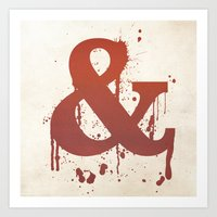 Ampersand. So CUTE! Art Print