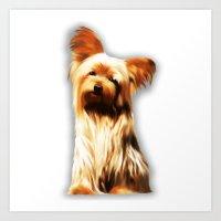 Yorkshire Puppy Tiny Dog Art Print