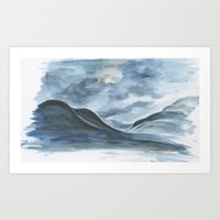 Sketch Of Ólafsfjörðu… Art Print