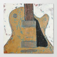 Les Paul Guitar Canvas Print