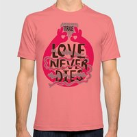 True Love Mens Fitted Tee Pomegranate SMALL