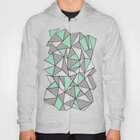 Abstraction Lines with Mint Blocks Hoody