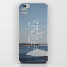 BUT I LOVE CALIFORNIA iPhone & iPod Skin