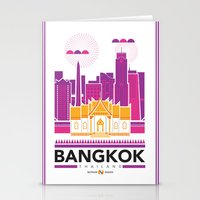 City Illustrations (Bangkok, Thailand) Stationery Cards