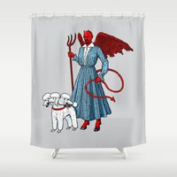 Devil With A Blue Dress On Shower Curtain