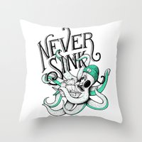 Never Sink Throw Pillow
