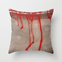 Cup Of Blood (detail) Throw Pillow