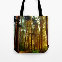 Morning In The Woods - Painting Style Tote Bag