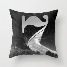 Lucky Seven Fade BEACH Throw Pillow