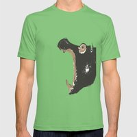 Hippo Mens Fitted Tee Grass SMALL