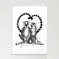 Lemur L'amur Stationery Cards