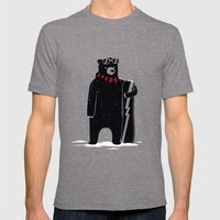Bear on snowboard Mens Fitted Tee Tri-Grey SMALL