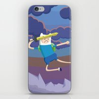 Finn the Human is gonna KICK YOUR BUTT! iPhone & iPod Skin