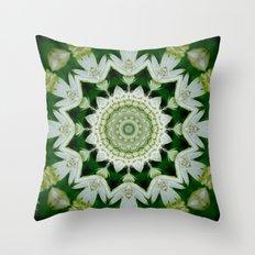 Astrantia Mandala Throw Pillow