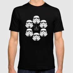 Stormtrooper pattern Black Mens Fitted Tee SMALL