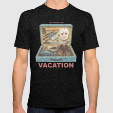 Get Ready For Vacation Mens Fitted Tee Tri-Black SMALL