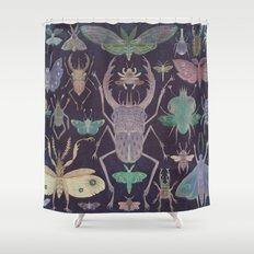 Entomologist's Wish (The Neon Version) Shower Curtain